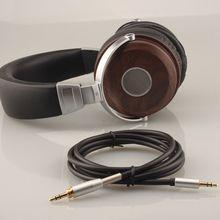 Auriculares estéreo de madera plegables para PC, portátil, teléfono móvil, tableta y MP3, 3,5mm, 1 Juego