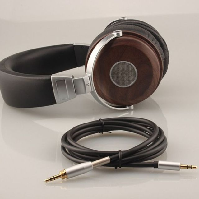 Neue 1Set Faltbare 3,5mm Stereo Holz Über ohr Kopfhörer Kopfhörer Headset für PC Laptop Handy Tablet MP3 computer