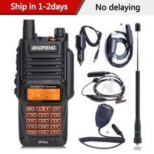 BaoFeng UV 9R בתוספת עמיד למים כף יד ווקי טוקי 8 ואט UHF VHF להקה כפולה IP67 HF משדר UV 9R חזיר נייד רדיו