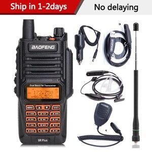 Image 1 - BaoFeng UV 9R Plus Waterproof Handheld Walkie Talkie 8Watts UHF VHF Dual Band IP67 HF Transceiver UV 9R Ham Portable Radio