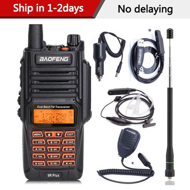 BaoFeng UV 9R Plus Waterproof Handheld Walkie Talkie 8Watts UHF VHF Dual Band IP67 HF Transceiver UV 9R Ham Portable Radio