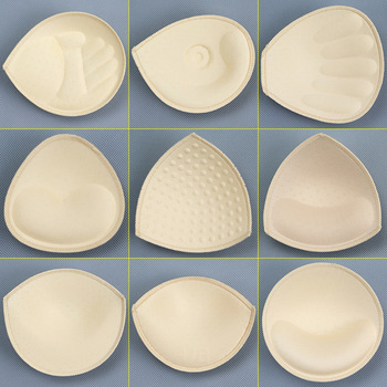 1 Pair Sexy Chest Pad Bikini Padding Insert Removeable Women's Bra Pads Breast Enhancer Chest Push Up Cups for Swimsuits Padding image