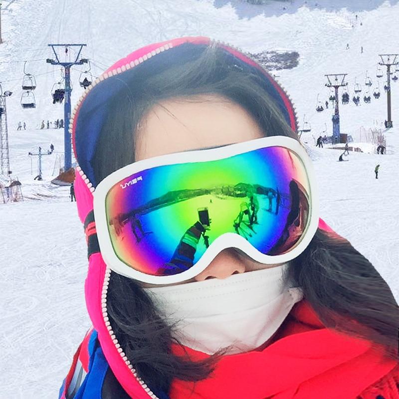 Очки для катания на сноуборде и лыжах, антизапотевающие, UV400, защитные очки для снегохода, мотокросса, бездорожья, маска для шлема для мужчин ...