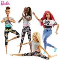 Original barbie articulações movimento bonecas yoga roupas 18 Polegada bebê crianças brinquedos para meninas educacionais bonecas brinquedos