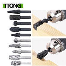 5pcs Steel Rotary Rasp File 1 4 #8243 Shank Rotary Craft Files Rasp Burrs Wood Bits Grinding Power Woodworking Hand Tool cheap BeiSanJi Tool Metalworking Drill Bits CN(Origin) Rotary drill Household Tool Set Total length 50-60mm Silver Black 27-40mm