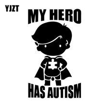 YJZT 9,9 см* 16,7 см мой герой имеет аутизм виниловая наклейка на машину стикер креативный мультфильм декор черный/серебристый C31-0416