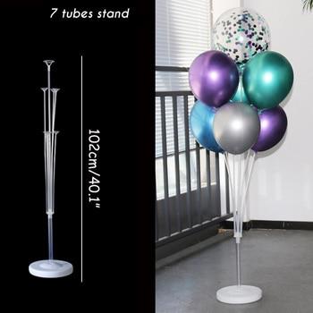 7x Tubes balloon stand birthday balloons arch stick holder wedding decoration baloon globos birthday party decorations kids ball 20
