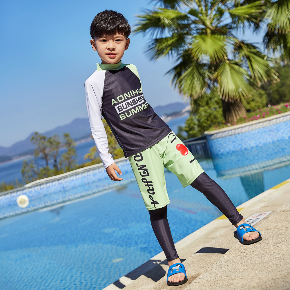 New Style Baby Surfing Handsome Trousers Sports Children Split Type Swimsuit