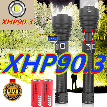 2020NEW XHP90.3 Powerful LED Flashlights XHP70.2 Zoom Tactical Torch Waterproof Flash Light 26650 USB Rechargeable Linterna image