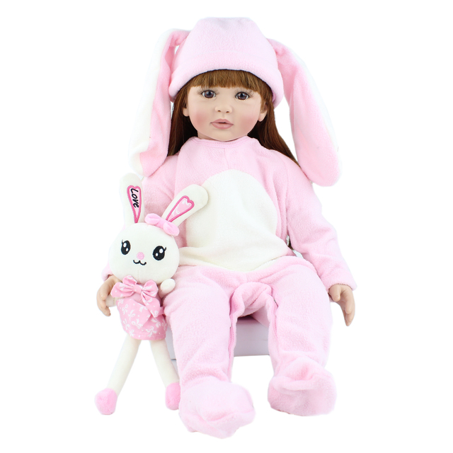 60cm Soft Silicone Reborn Babies Doll Toys