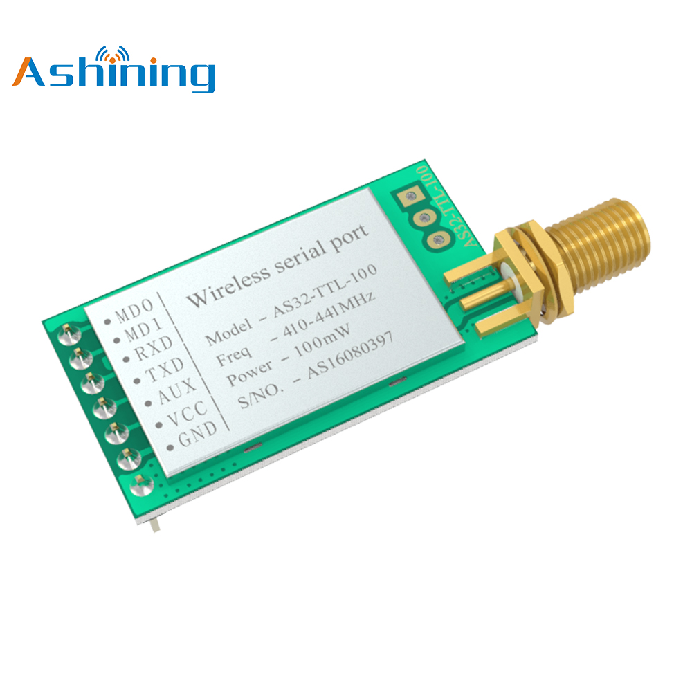 LoRa SX1278 433MHz 100mW Wireless Rf Module IoT Transceiver ASHINGING AS32-TTL-100 UART Long Range Transmitter Receiver