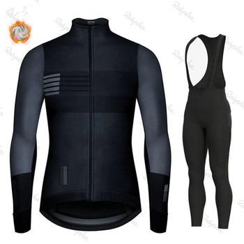 2020 inverno de lã quente ciclismo terno, homem ciclismo terno, esportes ao ar livre, mtb bicicleta uniforme kit triathlon gobikeful 1