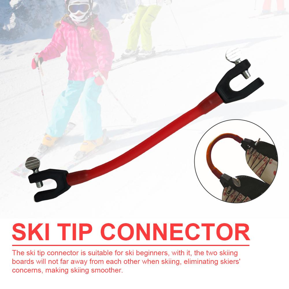 Sport Compact Elastic Clip Latex Kid Beginner Winter Easy Control Speed Protection Ski Tip Connector For Outdoor Training Skiing