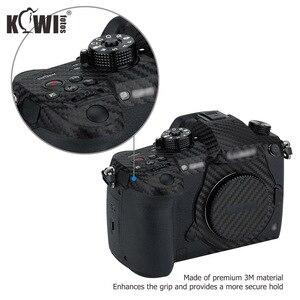 Image 4 - Kiwi Chống Trầy Xước Bao Da Máy Ảnh Da Bảo Vệ Cho Máy Ảnh Panasonic Lumix DC GH5 GH5 Camera Chống Trượt 3M miếng Dán Vân Carbon Phim