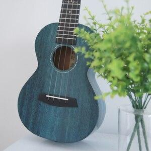 Image 1 - Enya MAD ukulele Tenor concert Solid Mahogany ukulele 23/26inch Blue uku Black Hawaii 4 string guitar musical instruments