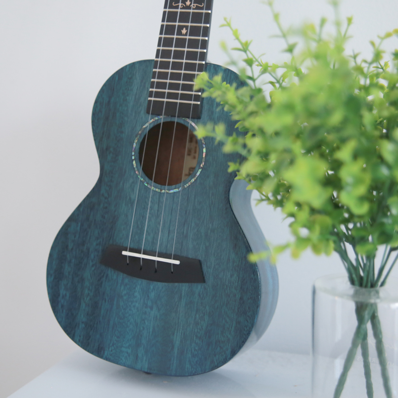 Kaka Ukulele Solid Mahogany With Bag Enya MAD Ukelele Blue Black Hawaii 4 String Guitar Musical Instruments