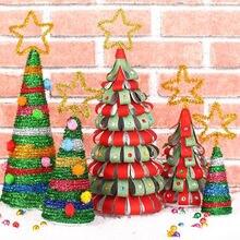Прямая поставка самодельная Рождественская елка съемная мини