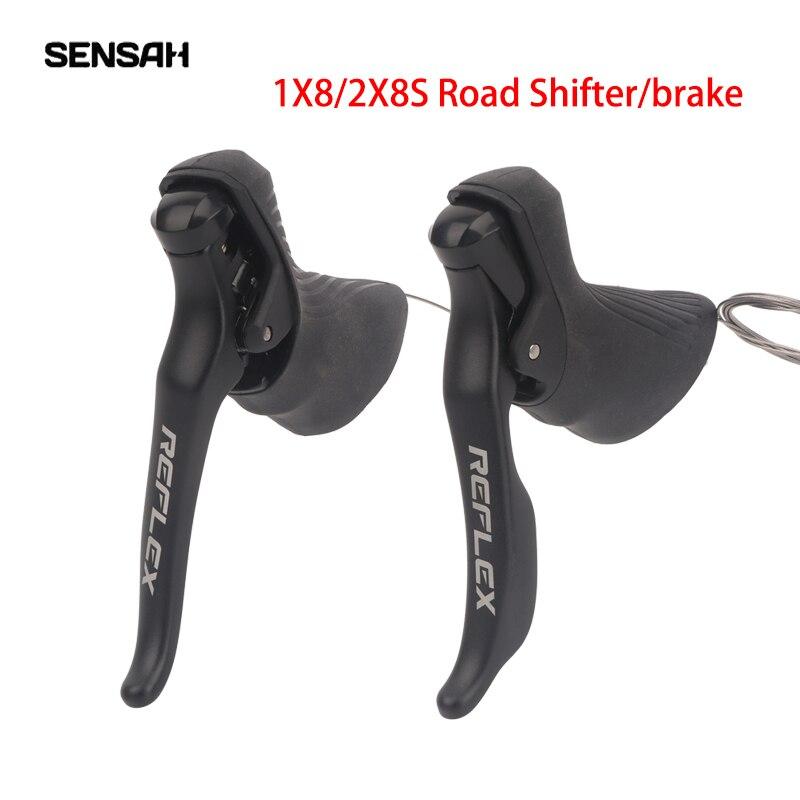 Переключатель передач Sensah, рычаг переключения передач для дорожного велосипеда, тормоз, 1x8/2x8