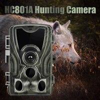 Trail caça câmera jogo scout noite HC 801A 16mp 32 gb noite à prova dwildlife água vida selvagem movimento ativado sem fio discrição eletronicks|Câmeras de caça| |  -