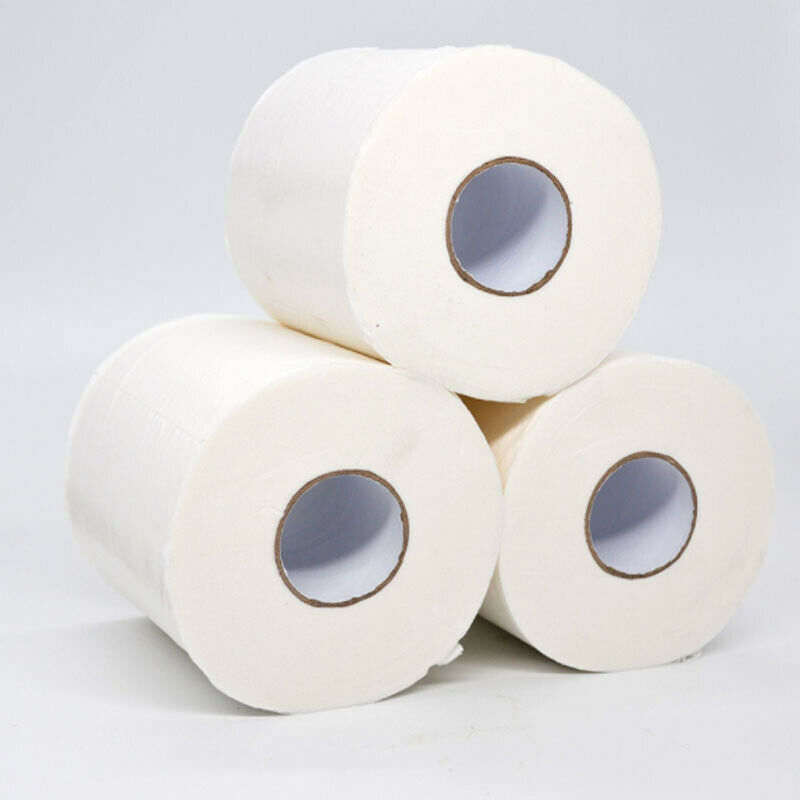 10 Rolls/set Virgin Pulp Roll Paper Toilet Paper Bulk Bath Skin-friendly Tissue Paper Bathroom White Soft 4 Ply 80g/Roll