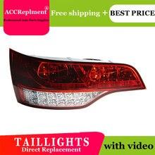 Car Styling LED Tail lights For Audi Q7 2006 2009 Taillight LED Running light + Dynamic Turn Signal + Reverse + Brake A Set