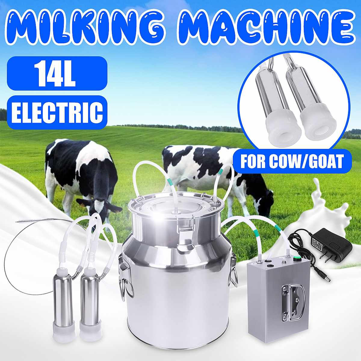 New Milk cup for piston milking machine cow