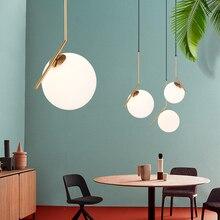 цена Modern LED Danish Nordic Round glass Ball Pendant Lights E27 Pendant lamp Hang light Fixture for Living Room Bedroom Dining Room онлайн в 2017 году