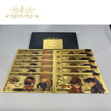 10 unids/lote 2021 nuevo diseño Japón Anime Detective Conan billete de Yen billetes de dinero para la colección