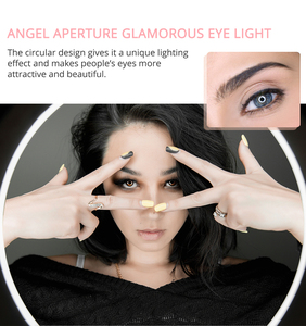 Image 5 - Travor 12インチledリングライト2色led調光可能リングランプ写真撮影selfieライトとビデオ用の三脚スタンドライブ