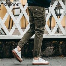 Harem-Pants KUEGOU Joggers Track Long-Trousers Male-Wear Cotton Men Casual Autumn