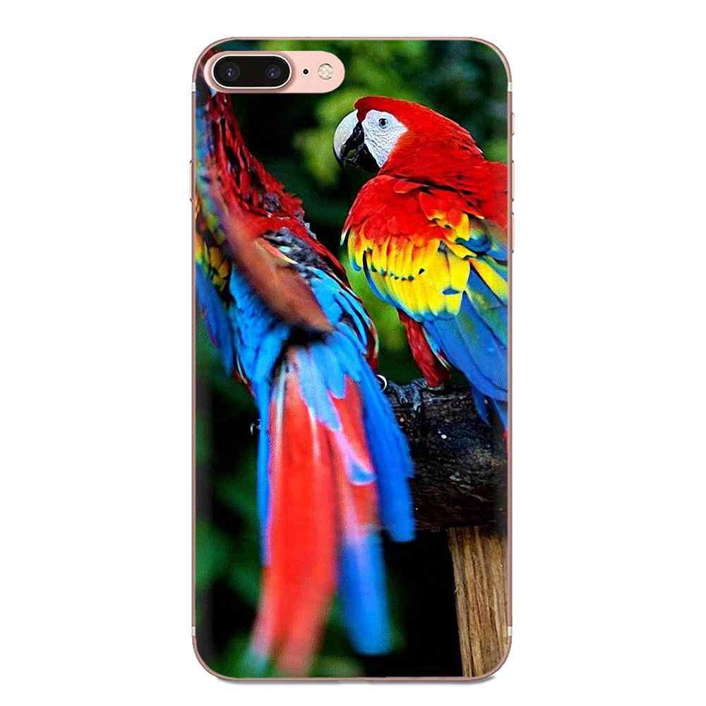 Для Xiao mi 3 mi 4 mi 4C mi 4i mi 5 mi 5s 5X6 6X8 SE Pro Lite A1 Max mi x 2 Note 3 4 мягкие Роскошные животные Птица Попугай Какаду