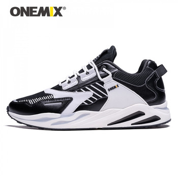 ONEMIX Retro Running Shoes for Mens Sneakers Winter Casual Athletic Sports Outdoor Travel Harajuk Walking Jogging