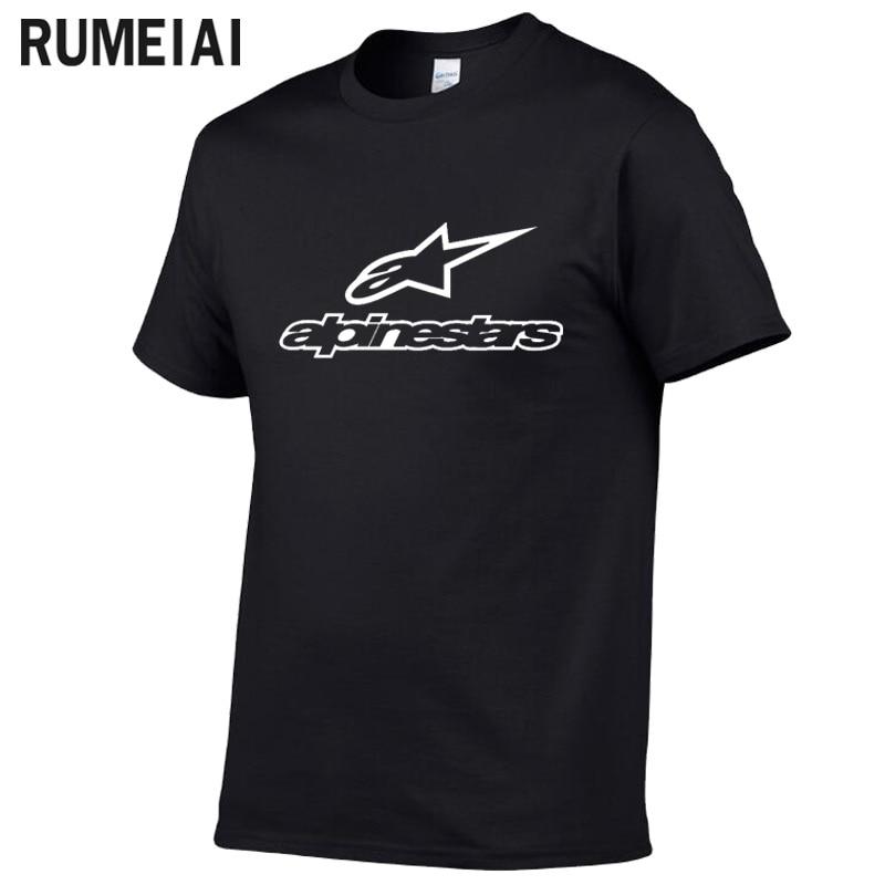 Alpine Star T Shirt Men Tops Summer Short Sleeve T-shirt Cotton Mans Tshirt 100% Cotton Casual Funny T-Shirts Summer New