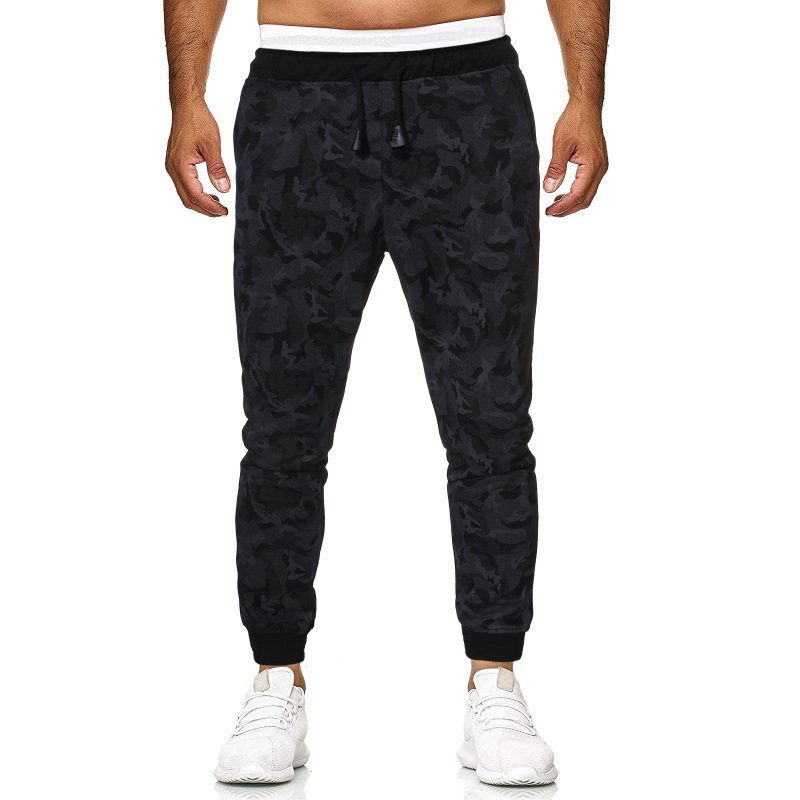 Men Casual Trousers Harem Skinny Pants Large Size Sports Skinny Trousers Gray Camouflage Harem Trousers
