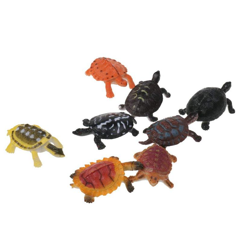 Plastic Figurines Animal Model Dinos Insects Wild Marine Educational Toy Child - Miscellaneous - Turtles 8pcs