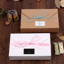 Simple Envelope Bow-style Gift-style Box Cowhide-wrapped Box Kraft Packaging Cardboard Paper fine Birthdays Gift Wrapping Box