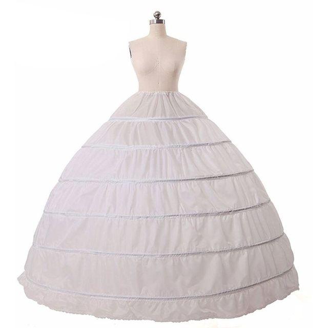 6 חישוקים אין חוט גדול חצאית הכלה כלה חתונה שמלת תמיכה תחתונית נשים תלבושות חצאיות רירית