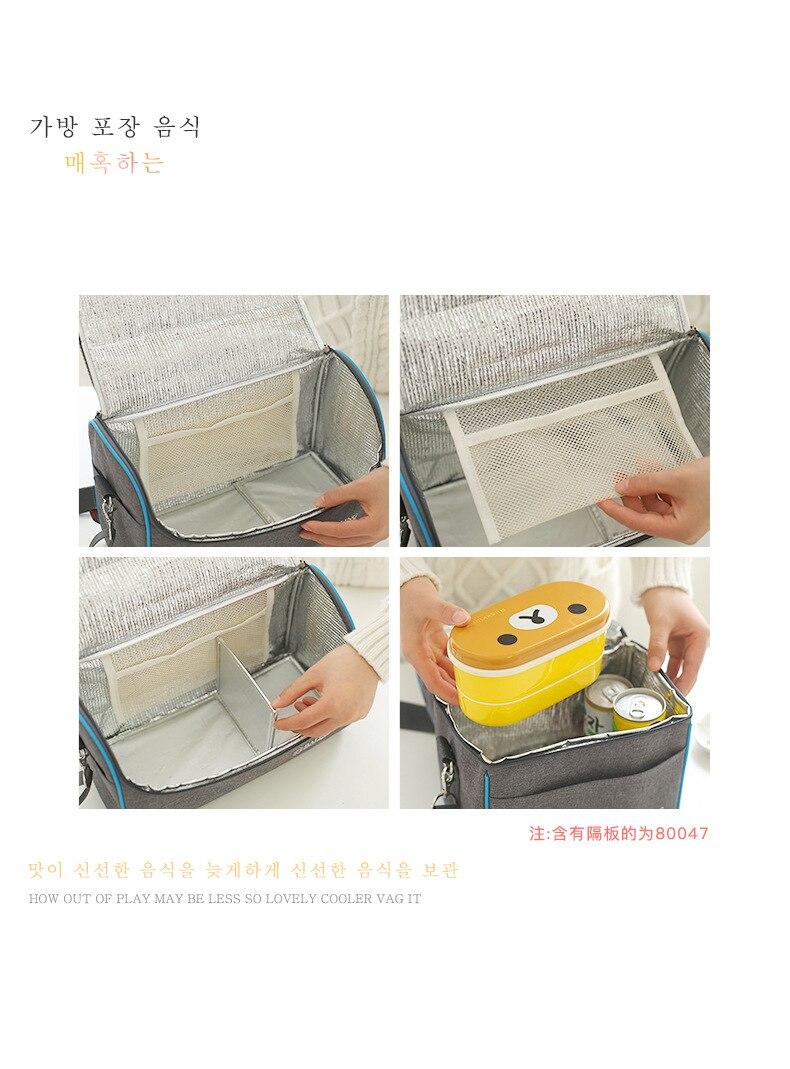 de alumínio saco isolado portátil almoço