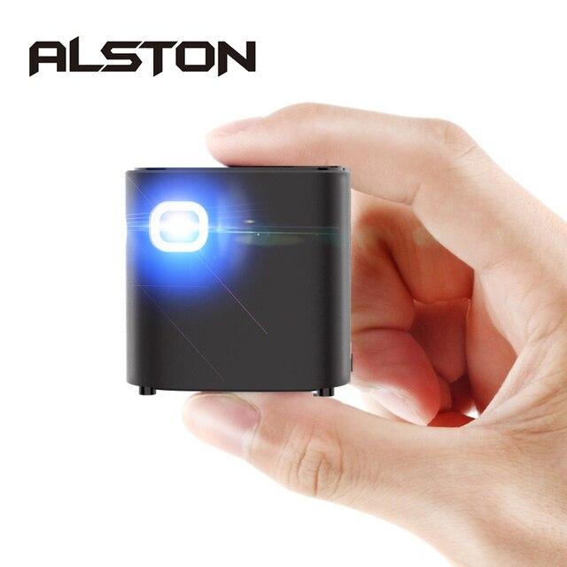 ALSTON S12 мини проектор HD 50ANSI lumens Удобный для переноски домашний проектор 1080P с батареей video beamer