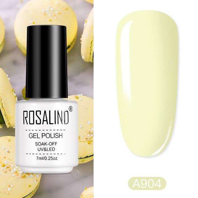 ROSALIND Macaron Gel Polish Hybrid Varnish For Manicure Nail Art Semi Permanent Nail Gel Varnish Lacquer Base Matt Top Coat Need