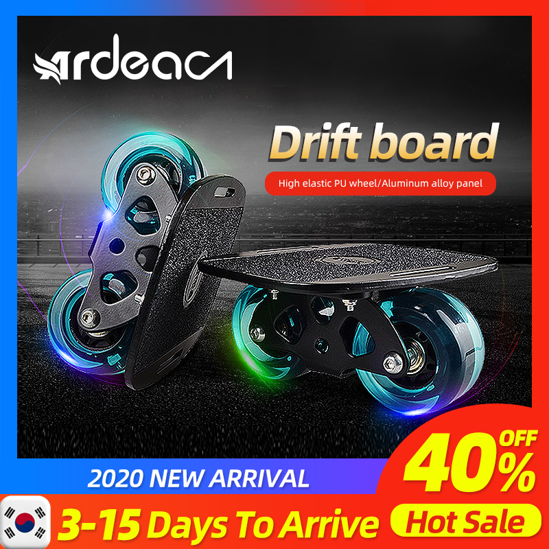 ARDEA Drift Board Freeline Skates Skateborad Driftboard Surfing Anti-skid Portable Patinetas Flashing Wheel For Roller Road