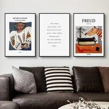 Francês freud henri matisse inglês carta retrato feminino moderno quadro decorativo lona arte da parede cartaz para sala de escritório decoração