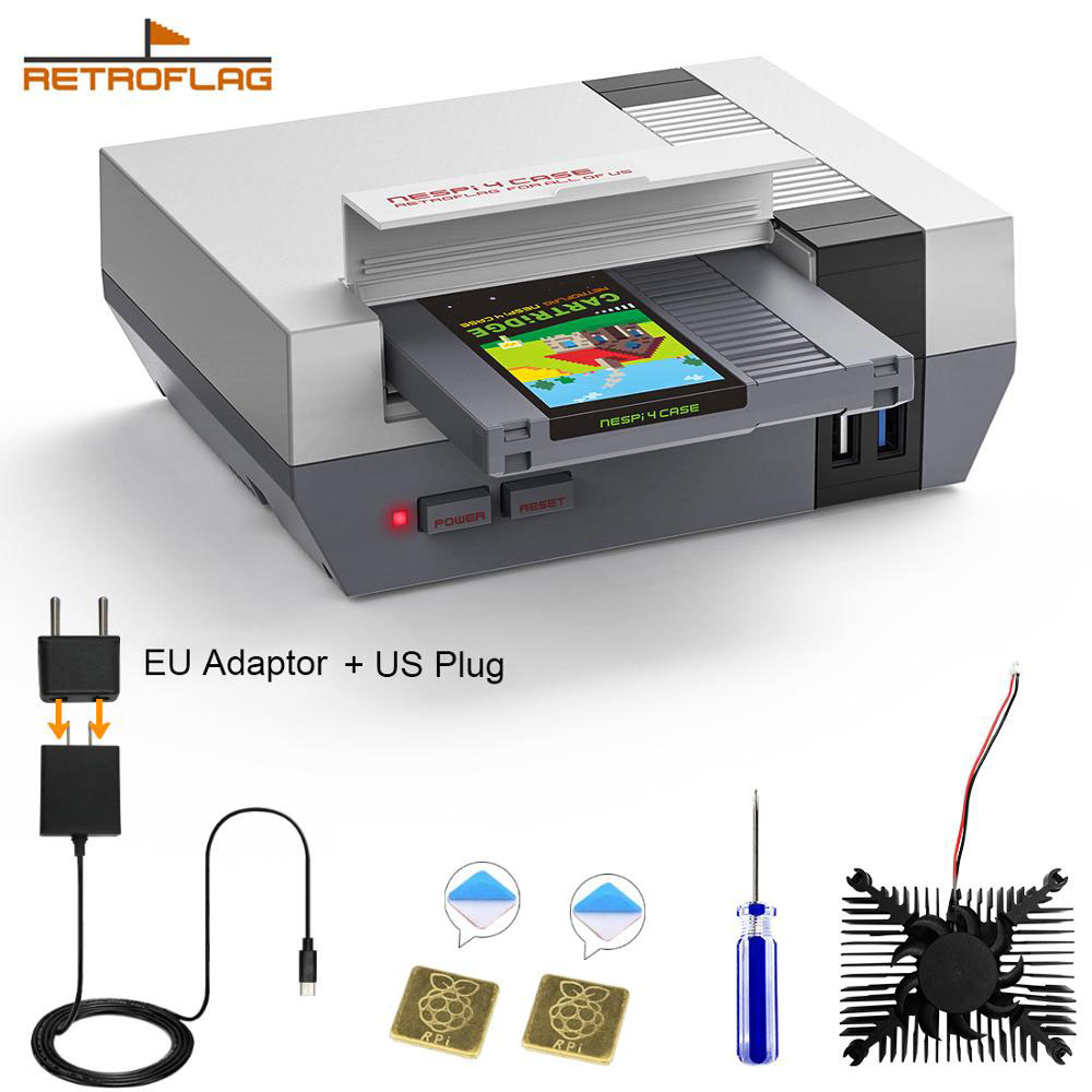 RETROFLAG Raspberry Pi 4 Case NESPi 4 NESPi4 CASE for Raspberry Pi 4 Model B  2GB 4GB or 8GB  Support Safe Shutdown Functions