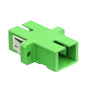 Image 4 - 100pcs SC APC Adapter SM  Optical Flange Coupler Simplex SC Optical Fiber Connector and Coupler Ftth Fiber Optic SC Adapter