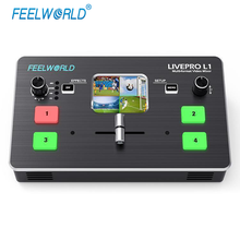 FEELWORLD LIVEPRO L1 Video Mixer/Switcher Multi-format 4 HDMI input for New Media multi camera real time live streaming Youtube