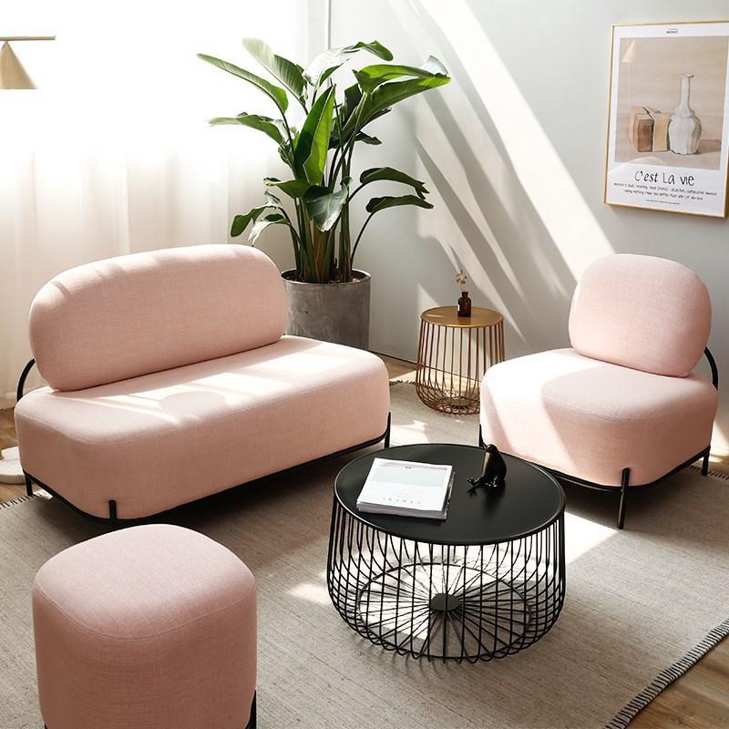 Nordique Europe canapé petit appartement chaise pour salon moderne Simple paresseux célébrité tissu canapé canapé meubles pour salon
