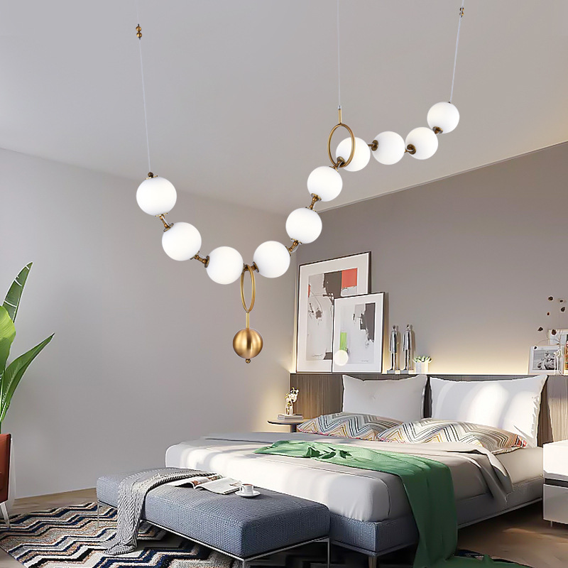 Best Discount #d1301 - Modern LED Glass Lampshade Pendant ...