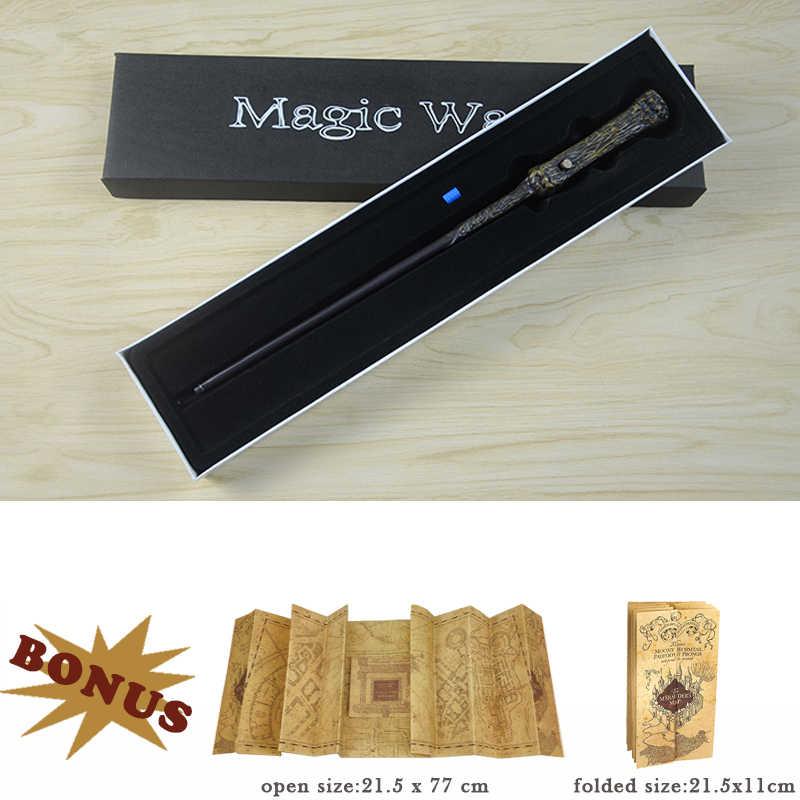 17 çeşit Potters sihirli değneklerini Sirius Hermione Dumbledore Harried ışık sihirli değnek hediye kutusu ambalaj ile 1 Marauder erkek haritası hediye