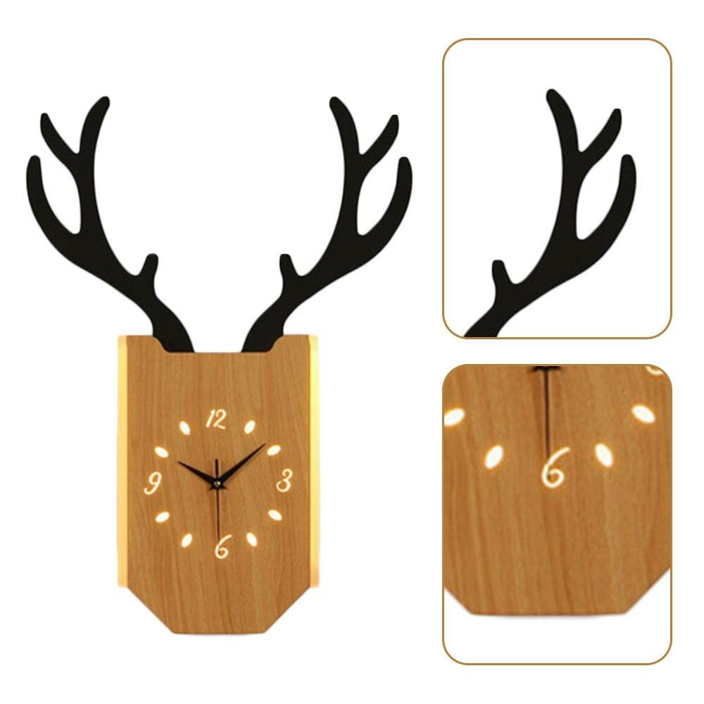 18 Вт скандинавские рога настенные часы лампа Современная гостиная прикроватные часы для спальни настенный светильник Внутреннее освещени... - 3