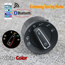 Bluetooth auto farol cabeça interruptor da lâmpada sensor de luz módulo atualização para vw golf 7 mk7 tiguan l